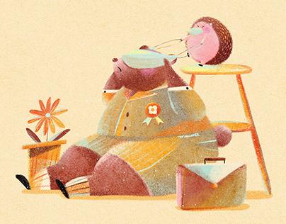Sweet Bear and His Hedgehog   熊熊有刺