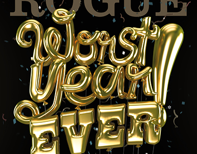 """""""Worst Year Ever""""  Rogue Magazine Year-end Cover (2016)"""