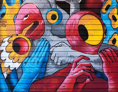 Gods in Love - Shutters in Pratello - Bologna - Italy