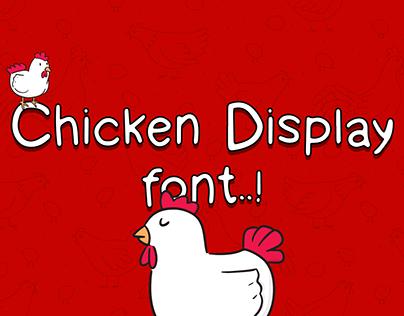 Chicken display font - Handwritten font