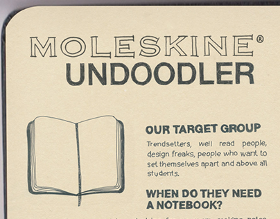 Moleskine UNDOODLER // Activation, POS