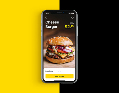 Mobile User Interface Design: Tasty Burger App