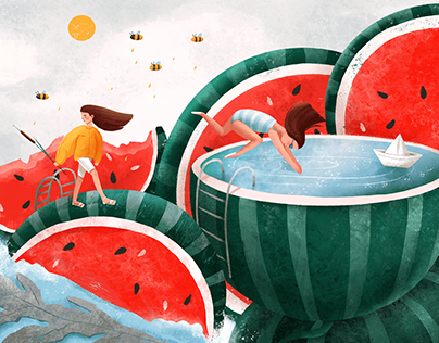 From summer to autumn / Series of illustrations