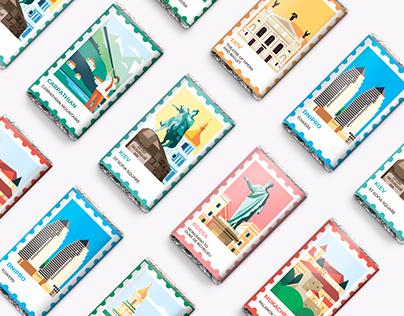 Chocolate packaging design for Roshen Ukraine folk
