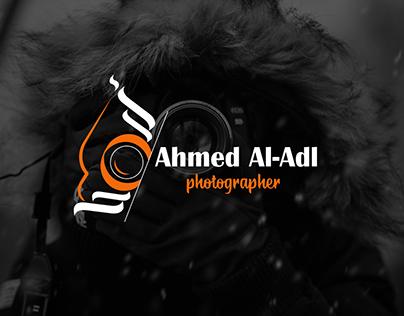 Ahmed Al-adl photographer logo design