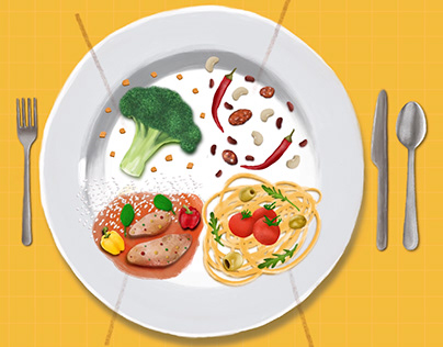 DAILY MENU FOOD ILLUSTRATION