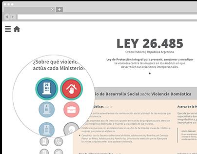 Ley 26.485 | Micrositio