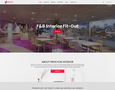 Corporate Web Development for Procyon Interiors Qatar