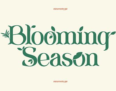 Blooming Season Flourish Font