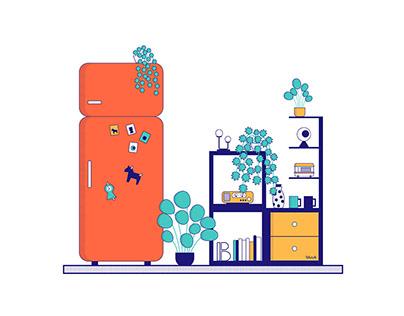 B ROOMS illustration series