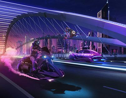 Night Ride Dubai