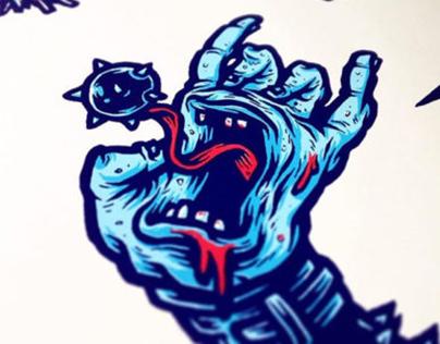Screaming Meat Hooks - Santa Cruz