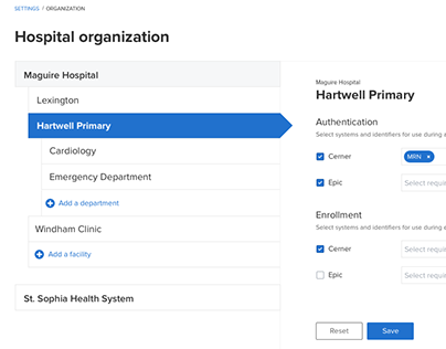 Mapping hospital systems
