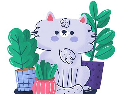Cats vs Plants