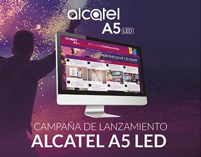 Campaña lanzamiento Alcatel A5 LED