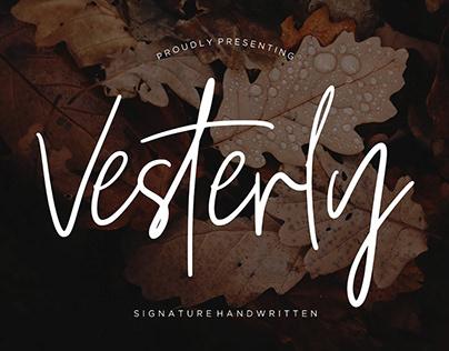 Vesterly Handwritten Font