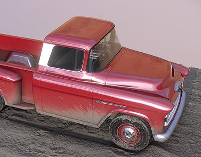 1955 Chevrolet Pickup low poly model