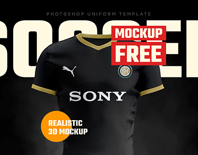 Soccer PSD Mockup FREE