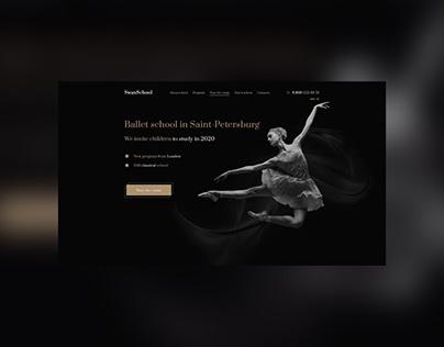 Ballet school landing first page