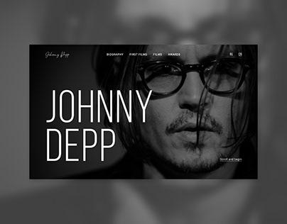 Johnny Depp   Многостраничный сайт-портфолио
