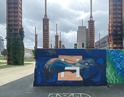 Flamingo - Urban art