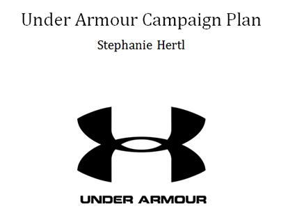 Under Armour Campaign Plan