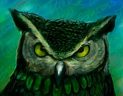Speed Painting: Duolingo Owl