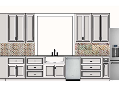 Kitchen Rendering for Food Blogger