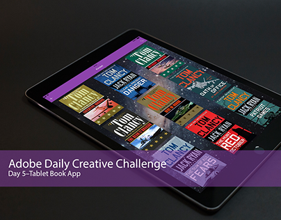 Adobe Creative Daily Challenge - Day 5, iPad Book App