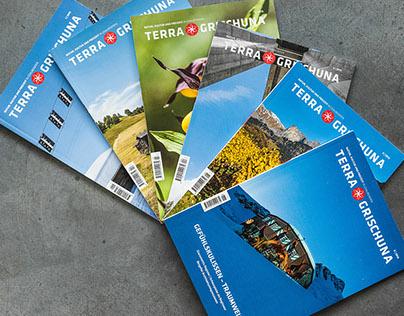 Terra Grischuna Zusammenstellung Titelbilder + Inserat