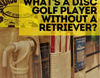 Rescue your disc golf discs with a retriever.