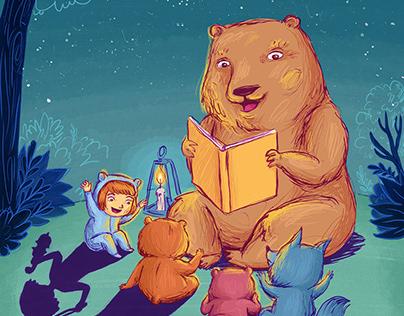 ILUSTRACIÓN • Leer en familia