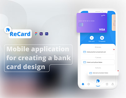 UI/UX ▪ Application for creating design of bank cards