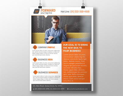 Freebies  Professional Corporate Flyer Psd Template On Behance