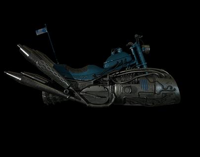 dieselpunk motorcycle