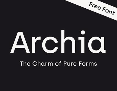 Archia typeface