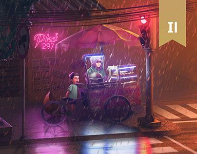 Saigon có mưa