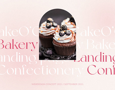 Bakery Landing page design