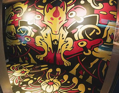 The Ride Side Skate shopfront mural