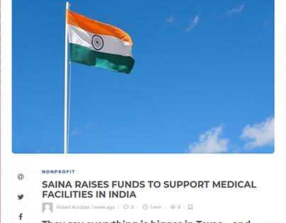 SAINA SUPPORT MEDICAL FACILITIES IN INDIA