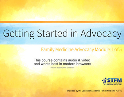 eLearning: Family Medicine Advocacy Online Course