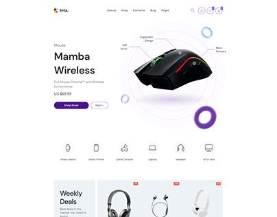 Teta - WooCommerce WordPress theme - Electronics shop