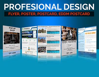 Bundle pack of Flyer, Poster, postcard