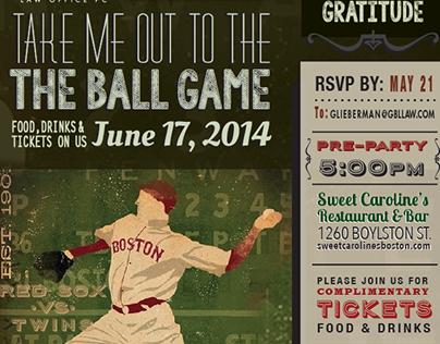 Ball game event invitation