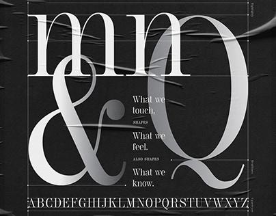 Touch, Font Design