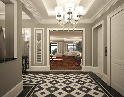 Interior Design of a Residential Three Floor Villa