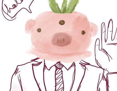Maceta de cerdo