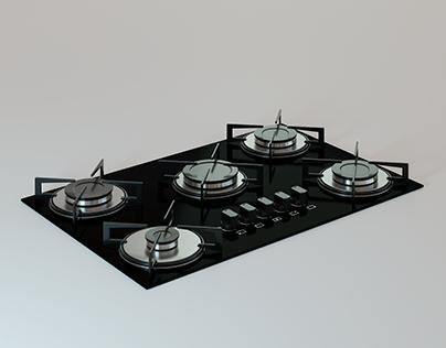 Cooktop Made In Blender 2.83