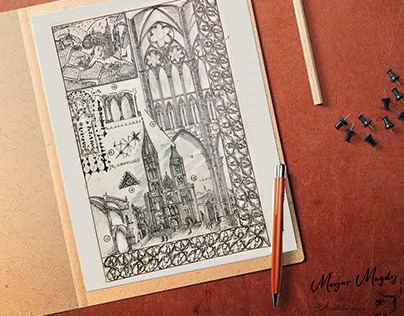 History of architecture freehand sketches