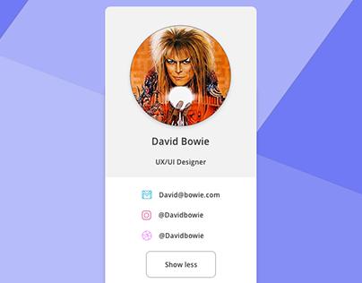Auto-Animate Adobe XD David Bowie